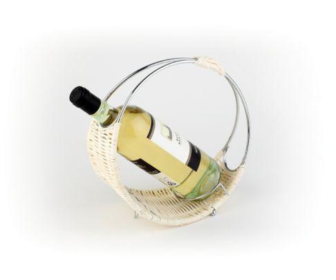 Stojak na wino z rattanu - 24cm