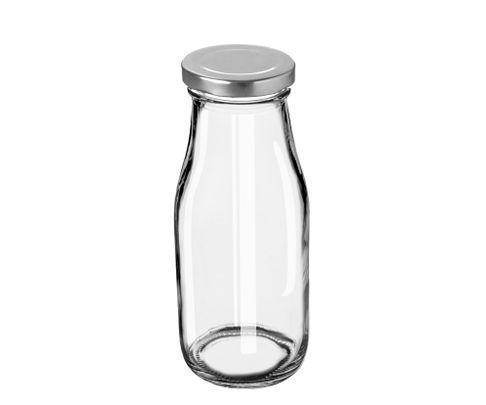Butelka szklana 320ml do lemoniady, milk shaków, smoothies, kwadratowa z zakrętką