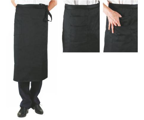 Zapaska kelnerska (fartuch) z kieszonką 100x80cm, czarna