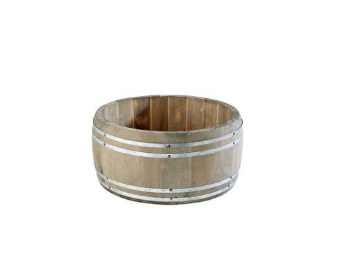 Beczułka na sztućce/przybory Country Style, drewniana, średnica: 17,5cm, wysokość: 8,5cm