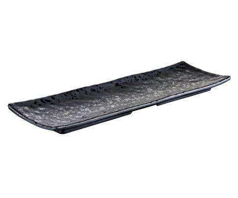 Półmisek z melaminy APS GLAMOUR, czarny, 37x11cm