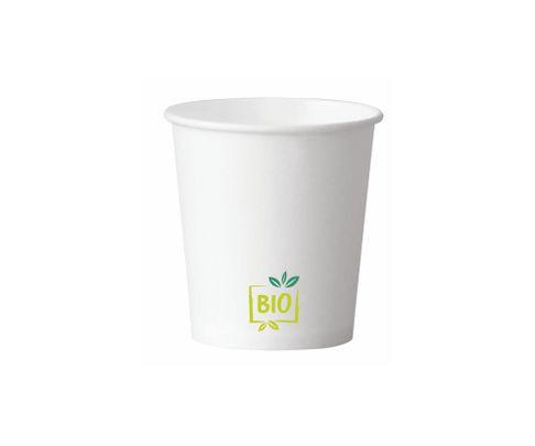 Kubek papierowy BIO 300ml jednościankowy biały, PLA, op. 50 sztuk