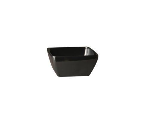 Miska z melaminy APS PURE 400ml, czarna, 12,5x12,5cm