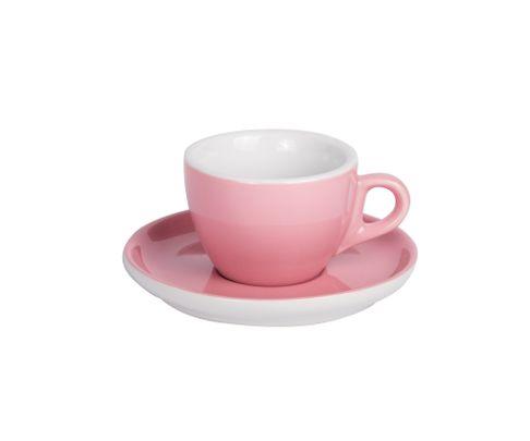 Filiżanka do cappucino 160ml APS Colored Sets, różowa (ze spodkiem)