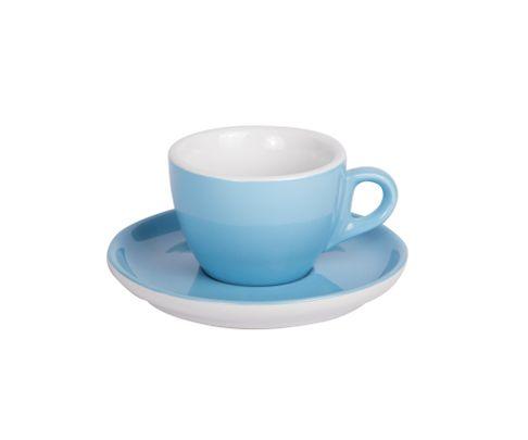Filiżanka do cappucino 160ml APS Colored Sets, niebieska (ze spodkiem)