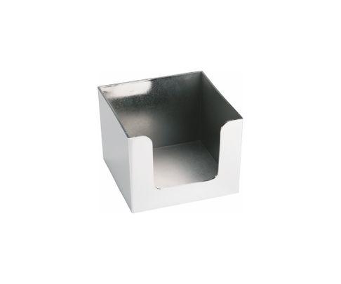 Pojemnik na serwetki, chromowany, 14x14x10cm