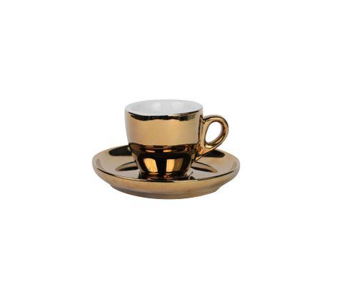 Filiżanka do espresso 55ml APS Barista, złota (ze spodkiem)