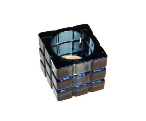 Świecznik Tealight Holder Cube niebieski
