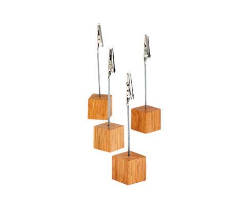Stojak na menu drewniany 3x3cm (4szt.)