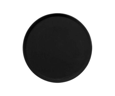 Taca antypoślizgowa z włókna szklanego, okrągła, 41cm, czarna