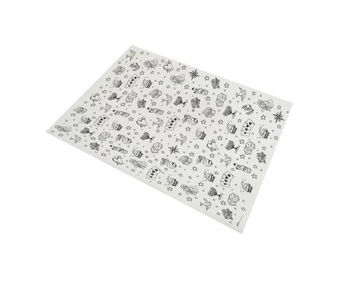 Papier pakowy powlekany tłuszczoodporny, wzór Tattoo/Sailor, 22+8PE 30x40, op.1000 arkuszy