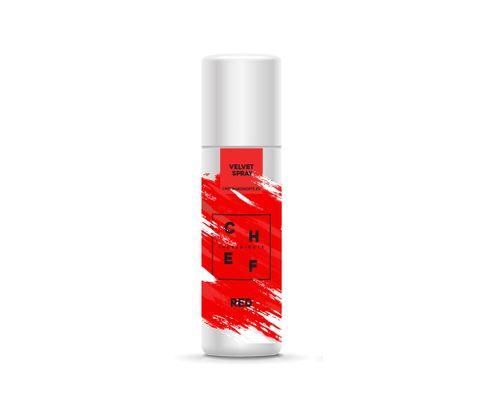 Barwnik zamszowy w sprayu Chef Ingredients (Velvet Spray) - czerwony 250ml