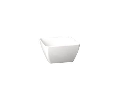 Miska z melaminy APS PURE 400ml, biała, 12,5x12,5cm