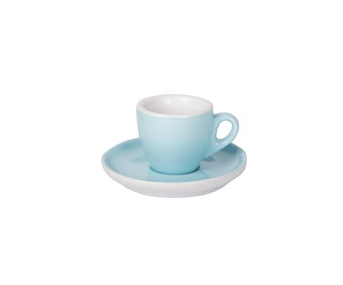 Filiżanka do espresso 55ml APS Colored Sets, błękitna (ze spodkiem)