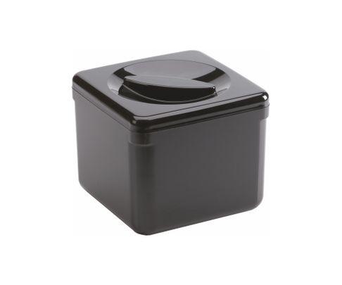 Pojemnik na lód, plastikowy, czarny, kwadratowy, 3,4L
