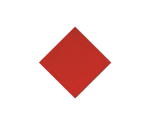 Serwetki cocktailowe, 24x24cm, składane 1/4, czerwone, 200szt
