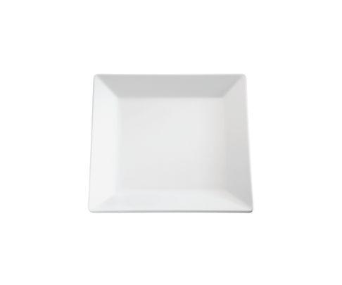 Półmisek z melaminy APS PURE, biały, kwadratowy 26,5x26,5cm