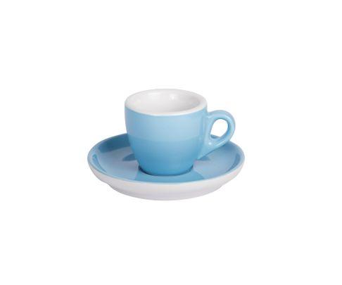 Filiżanka do espresso 55ml APS Colored Sets, niebieska (ze spodkiem)