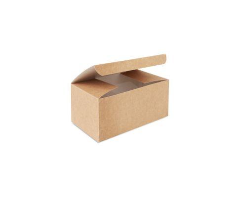 Pudełko kurczak średni 150x100x80mm karton biało-brązowy, op.100 sztuk