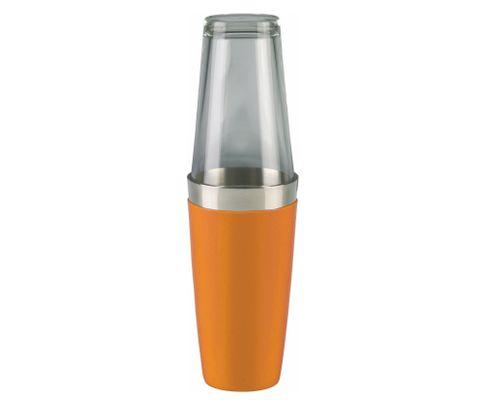 Shaker bostoński duży, okleina winylowa, pomarańczowy, 800ml (bez szklanicy)