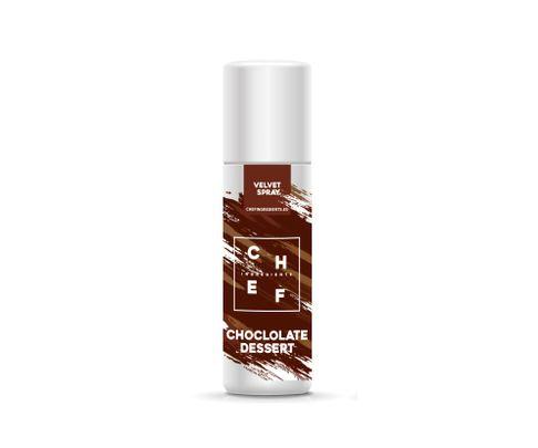 Barwnik zamszowy w sprayu Chef Ingredients (Velvet Spray) - czekolada deserowa 250ml