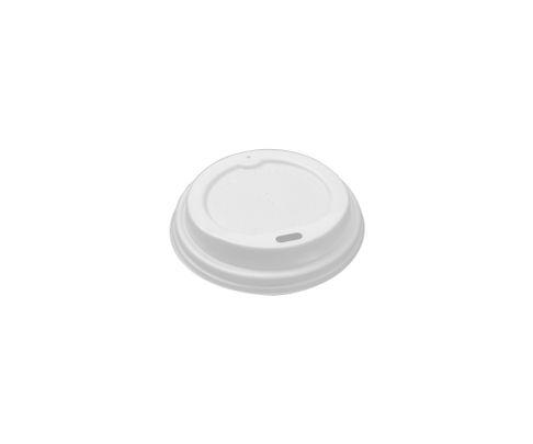 Dekiel/wieczko do kubka PLA ECO, biały, średnica 90mm, op.50 sztuk