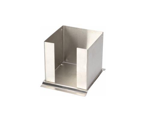 Pojemnik na serwetki, stalowy, 17x14x13cm