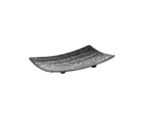 Półmisek z melaminy APS GLAMOUR, czarny, 22x12cm