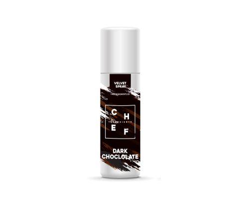 Barwnik zamszowy w sprayu Chef Ingredients (Velvet Spray) - gorzka czekolada 250ml