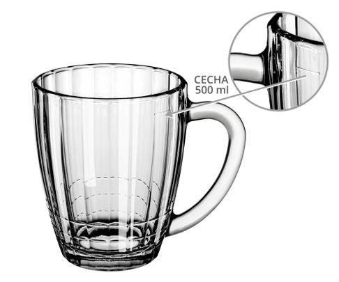 Szklanka do zimowej herbaty Panel Economy Line 600ml (cecha 500ml)