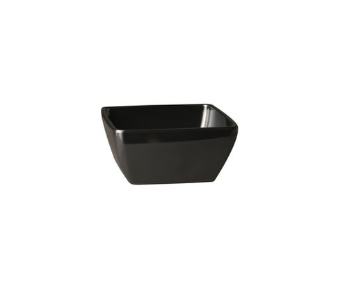 Miska z melaminy APS PURE 1500ml, czarna , 19x19cm