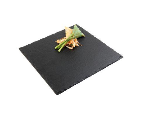 Taca, łupek naturalny, kwadratowa 30x30cm
